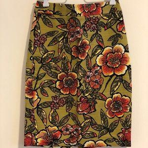 Ann Taylor fun, bright, floral pencil skirt